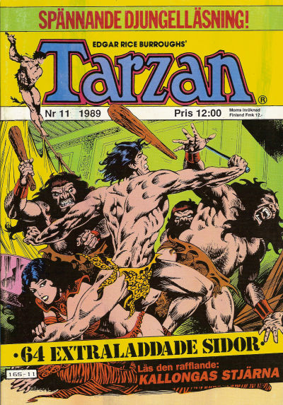 Cover for Tarzan (Atlantic Förlags AB, 1977 series) #11/1989