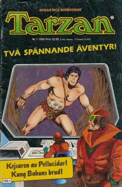 Cover for Tarzan (Atlantic Förlags AB, 1977 series) #1/1990