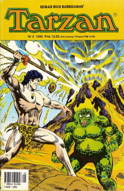 Cover for Tarzan (Atlantic Förlags AB, 1977 series) #5/1990