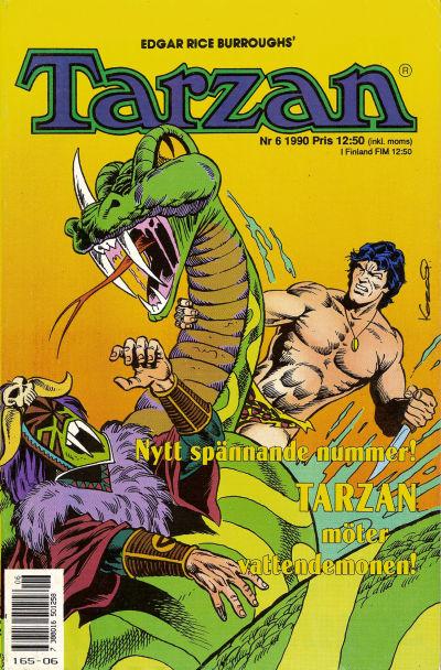 Cover for Tarzan (Atlantic Förlags AB, 1977 series) #6/1990