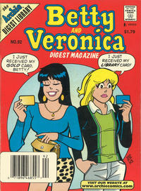 Cover Thumbnail for Betty and Veronica Comics Digest Magazine (Archie, 1983 series) #92