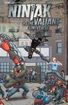Cover for Ninjak vs. the Valiant Universe (Valiant Entertainment, 2018 series) #4 [Cover D - Francis Portela]