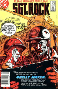 Cover Thumbnail for Sgt. Rock (DC, 1977 series) #408 [Canadian]