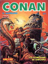 Cover Thumbnail for Conan Spada Selvaggia (Comic Art, 1986 series) #21