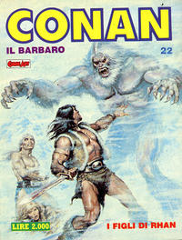 Cover Thumbnail for Conan Spada Selvaggia (Comic Art, 1986 series) #22