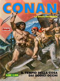 Cover Thumbnail for Conan Spada Selvaggia (Comic Art, 1986 series) #40