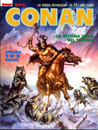 Cover Thumbnail for Conan Spada Selvaggia (Comic Art, 1986 series) #72