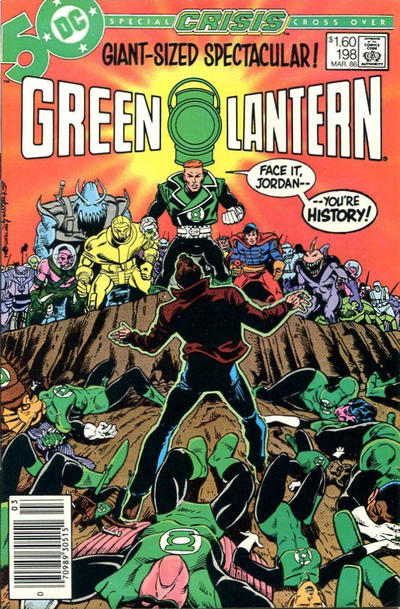 Cover for Green Lantern (DC, 1960 series) #198 [Newsstand]