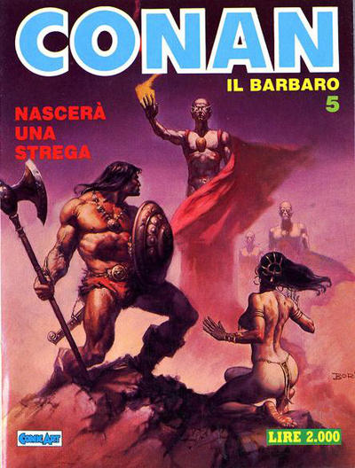Cover for Conan Spada Selvaggia (Comic Art, 1986 series) #5
