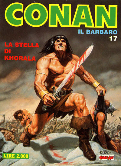 Cover for Conan Spada Selvaggia (Comic Art, 1986 series) #17