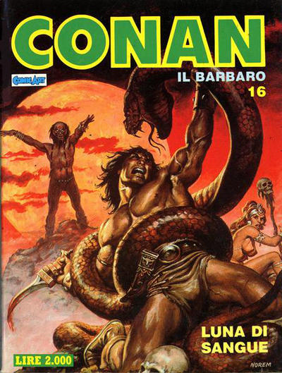 Cover for Conan Spada Selvaggia (Comic Art, 1986 series) #16