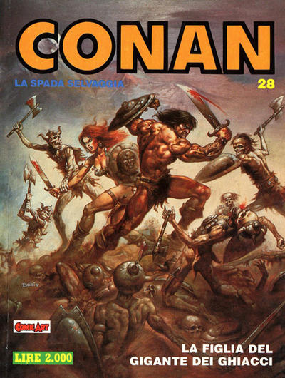 Cover for Conan Spada Selvaggia (Comic Art, 1986 series) #28