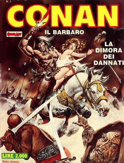 Cover for Conan Spada Selvaggia (Comic Art, 1986 series) #1