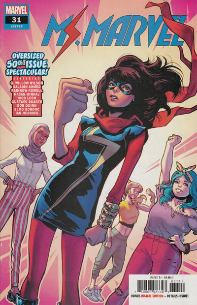 Cover for Ms. Marvel (Marvel, 2016 series) #31 [Variant Edition]