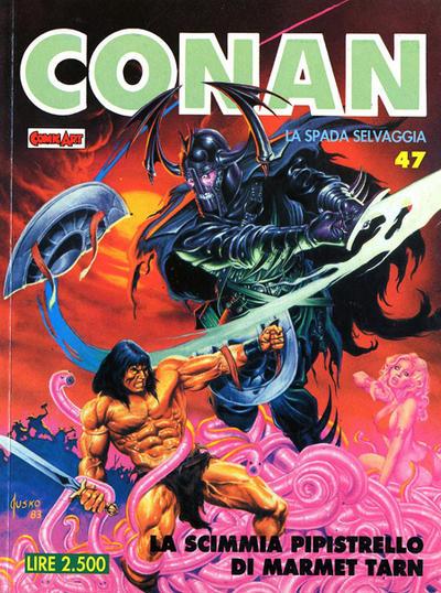 Cover for Conan Spada Selvaggia (Comic Art, 1986 series) #47