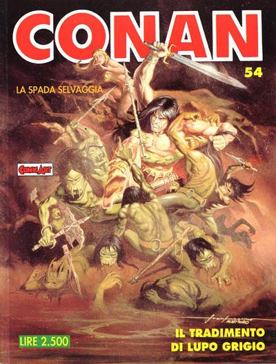Cover for Conan Spada Selvaggia (Comic Art, 1986 series) #54