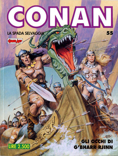Cover for Conan Spada Selvaggia (Comic Art, 1986 series) #55