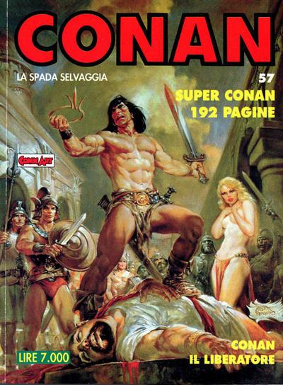 Cover for Conan Spada Selvaggia (Comic Art, 1986 series) #57