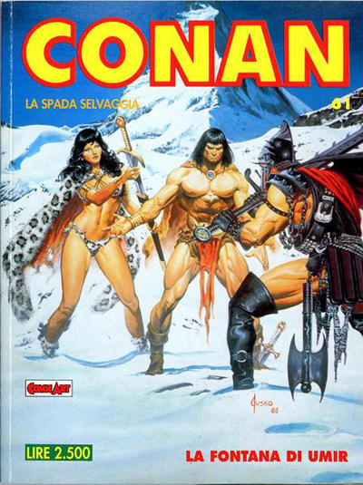 Cover for Conan Spada Selvaggia (Comic Art, 1986 series) #61