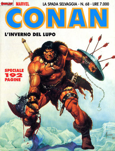 Cover for Conan Spada Selvaggia (Comic Art, 1986 series) #68