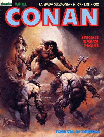 Cover for Conan Spada Selvaggia (Comic Art, 1986 series) #69