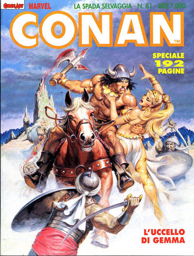 Cover for Conan Spada Selvaggia (Comic Art, 1986 series) #81