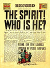 Cover for The Spirit (Register and Tribune Syndicate, 1940 series) #10/13/1940 [Philadelphia Record Edition]