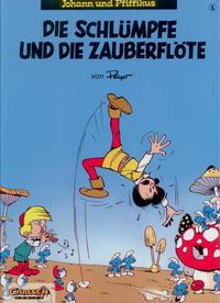Cover Thumbnail for Johann und Pfiffikus (Carlsen Comics [DE], 1994 series) #1 - Die Schlümpfe und die Zauberflöte