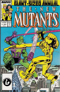 Cover Thumbnail for The New Mutants Annual (Marvel, 1984 series) #3 [Direct]