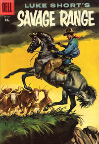 Cover Thumbnail for Four Color (Dell, 1942 series) #807 - Luke Short's Savage Range [15¢]