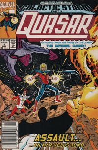 Cover Thumbnail for Quasar (Marvel, 1989 series) #32 (1) [Newsstand]