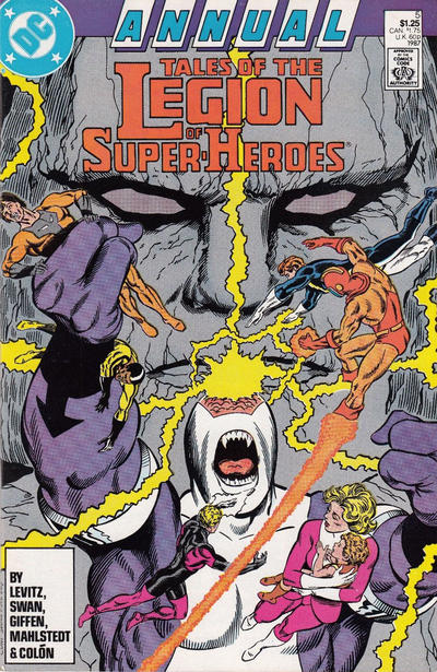 Cover for Tales of the Legion of Super-Heroes Annual (DC, 1986 series) #5 [Newsstand]
