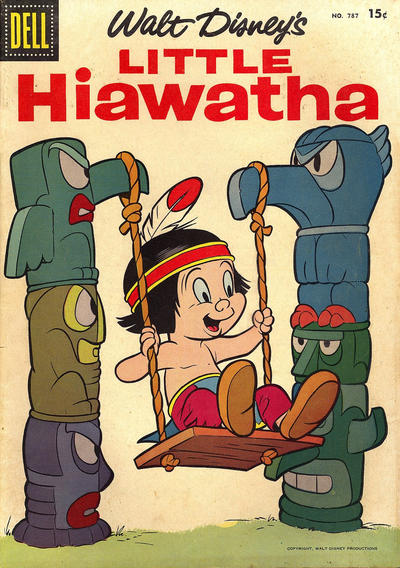 Cover for Four Color (Dell, 1942 series) #787 - Walt Disney's Little Hiawatha
