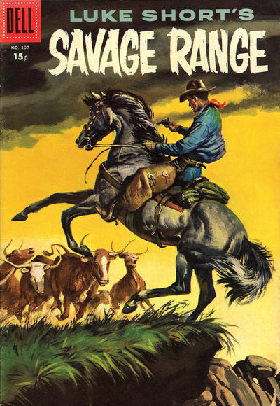 Cover for Four Color (Dell, 1942 series) #807 - Luke Short's Savage Range
