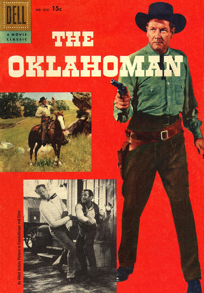 Cover for Four Color (Dell, 1942 series) #820 - The Oklahoman [15¢]
