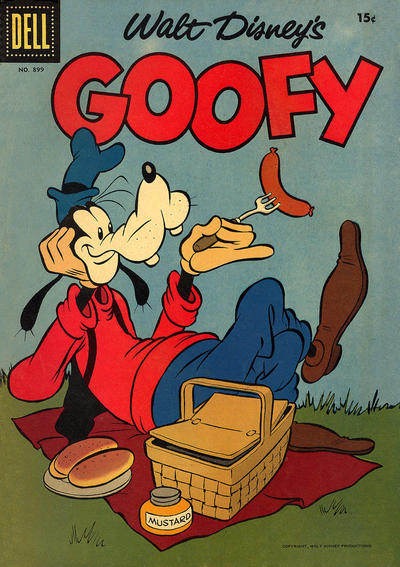Cover for Four Color (Dell, 1942 series) #899 - Walt Disney's Goofy [15¢]