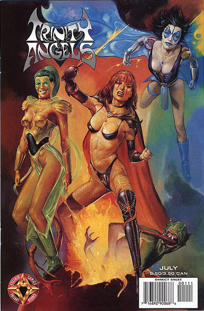 Cover for Trinity Angels (Acclaim / Valiant, 1997 series) #1 [Regular Cover]
