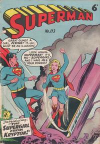 Cover Thumbnail for Superman (K. G. Murray, 1950 series) #113