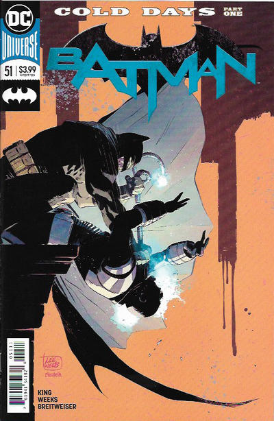 Cover for Batman (DC, 2016 series) #51 [Variant Cover by Kaare Andrews]