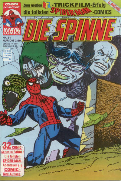 Cover for Die Spinne (Condor, 1987 series) #31