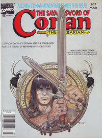 Cover Thumbnail for The Savage Sword of Conan (Marvel, 1974 series) #207 [Newsstand]