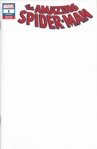 Cover Thumbnail for Amazing Spider-Man (Marvel, 2018 series) #1 (802) [Variant Edition - Blank Cover]
