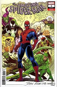 Cover Thumbnail for Amazing Spider-Man (Marvel, 2018 series) #1 (802) [Variant Edition - John Romita Cover]