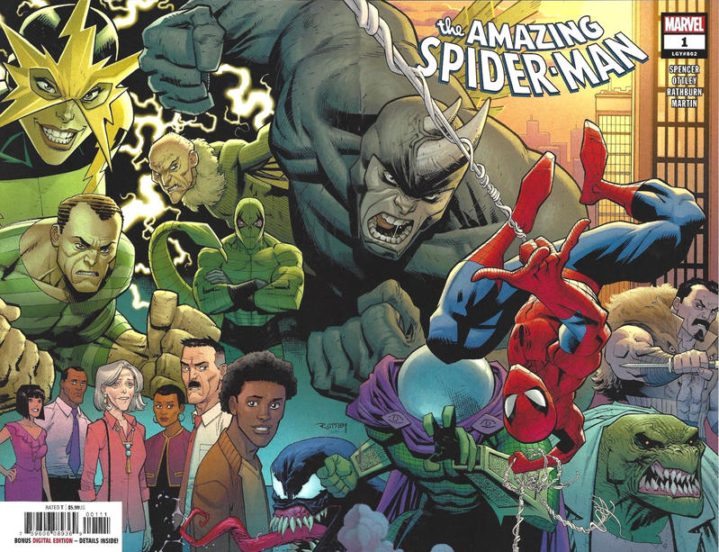 Cover for Amazing Spider-Man (Marvel, 2018 series) #1 (802) [Variant Edition - Unknown Comics Exclusive - Philip Tan Whiteout Virgin Cover]
