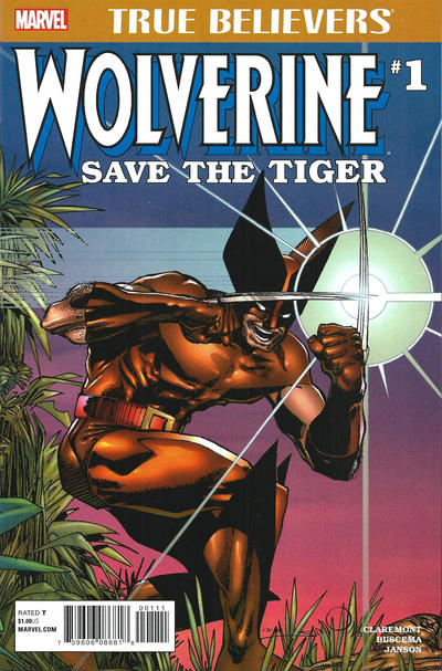 Cover for True Believers: Wolverine Save the Tiger (Marvel, 2017 series) #1