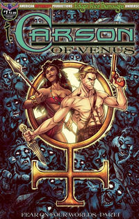 Cover Thumbnail for Edgar Rice Burroughs' Carson of Venus: Fear on Four Worlds (American Mythology Productions, 2018 series) #1 [Visions of Venus Cover]