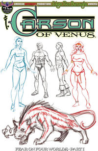 Cover Thumbnail for Edgar Rice Burroughs' Carson of Venus: Fear on Four Worlds (American Mythology Productions, 2018 series) #1 [Limited Edition Cover]