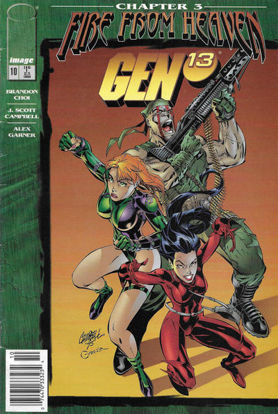 Cover for Gen 13 (Image, 1995 series) #10 [Newsstand]