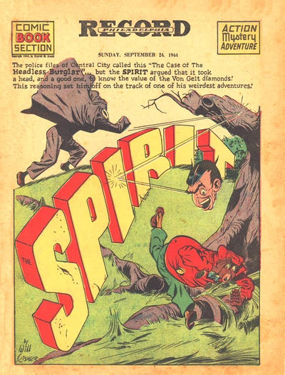 Cover for The Spirit (Register and Tribune Syndicate, 1940 series) #9/24/1944