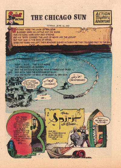 Cover for The Spirit (Register and Tribune Syndicate, 1940 series) #6/15/1947